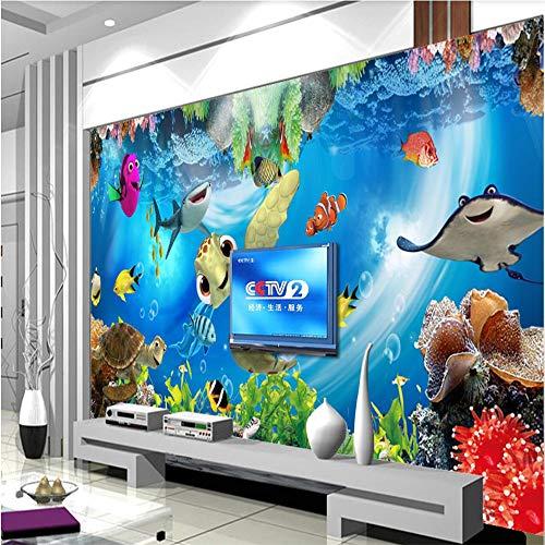 Fototapete 3D Tapeten Wandbilder Unterwasserwelt-Aquarium-Tropisches Fisch-Wandgemälde Moderne Wanddeko Design Anpassbare Wandbilder (Tropische Fische Hat)