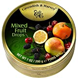 9 Dosen Cavendish & Harvey Mixed Fruit Drops Multi Frucht a 200g C & H