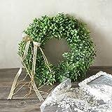 LinTimes künstlicher Kranz, mit Blumen und grünen Blättern, zum Aufhängen auf der Tür, Wand; für Hochzeiten, Partys, Weihnachten Style A