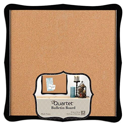 Quartet Bulletin Board, Cork, 14 x 14, Home Organization, Black Frame (50722) by Quartet (14x14 Bulletin Board)