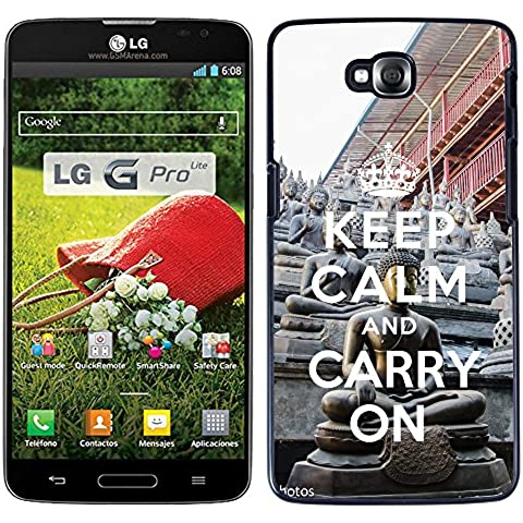 Print Motif Coque de protection Case Cover // Q01018302 keep calm and carry on 910 // LG G Pro Lite