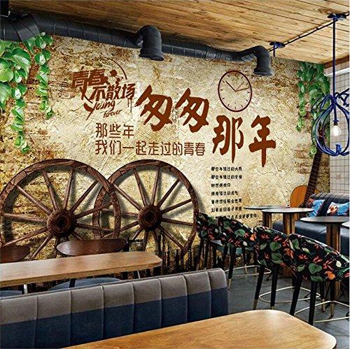Retro personalisierte Retro Ziegel Texturen zu modischen der Stadt klassische Tapeten Cafe Cafe Milch Tee Shop Bar und Grill, die Tapete Stadt stilvollen, klassischen Zug, ich Tapeten, Tapeten