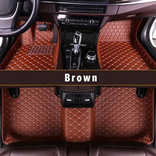 Passt für J eep Grand Cherokee 2007-2010 Auto-Fußmatten Leder Volldeckung Wasserdichte Rutschfest Bodenmatte Braun -