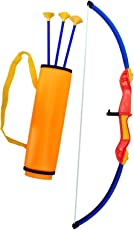 HALO NATION® Archer Bow and Arrow Set with Quiver - 29 inch Both for BAHUBALI Kids & Adults too- International Standard Archery Toy- Indian