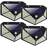 Solar Lights Outdoor 100 LED 270º Motion Sensor Security Solar Power Wall lamp(4 Pack)