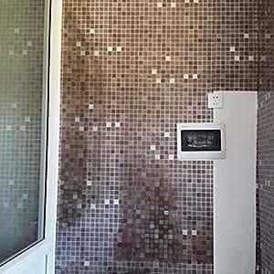 Bluelans 45 x 200 cm adh sif pour carrelage mosa que - Stickers pour carrelage mural cuisine ...