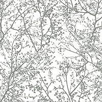 P + S Graphics Alive 13264–30Papel pintado 1326430Floral Blanco Gris