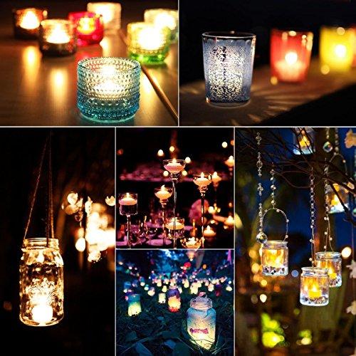 32x Velas de té LED Centelleante Incluye 32pilas CR2032, llama LED velas con efecto titilante, Iapyx®