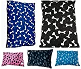 """Comfort-Style Pack of 2 ~ EXTRA-LARGE covers for Dog Bed Pillow ~ PolyCotton removable Zipped Covers ONLY ~ (Random Designs ~ XLARGE size 56"""" x 37"""")"""