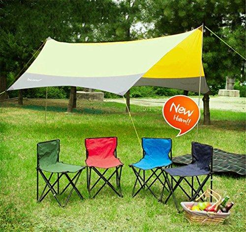 TTYY Chaise pliante extérieure 2PCS Moon Chair Pique-nique Pêche Camping Pliable (s'il vous plaît laissez un message si vous avez besoin d'une couleur différente) , Rouge