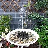 Mlec tech Bomba de Agua Mini Fuentes Sumergible Exterior Decorativas Energía Solar Bomba Sumergible para el Baño del Pájaro y Tanque de Pescados y Decoración de Jardín