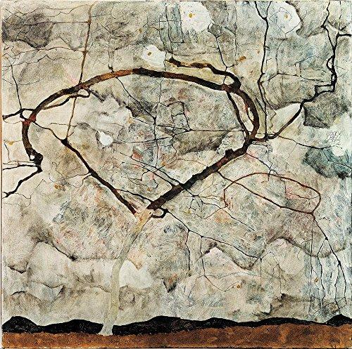 Das Museum Outlet–Egon Schiele–Winter Tree, gespannte Leinwand Galerie verpackt. 50,8x 71,1cm