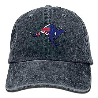 dfjdfjjgfhd Australian Flag Kangaroo Snapback Cotton Hat
