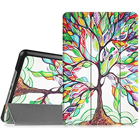 Fintie iPad mini 1 / 2 / 3 Funda - Ultra Slim Fit Smart Case Funda Carcasa con Stand Función y Auto-Sueño / Estela para Apple iPad mini 1 2 3, Love Tree