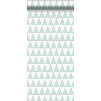 Papier Peint Intisse Eco Texture Impression A La Craie Triangle