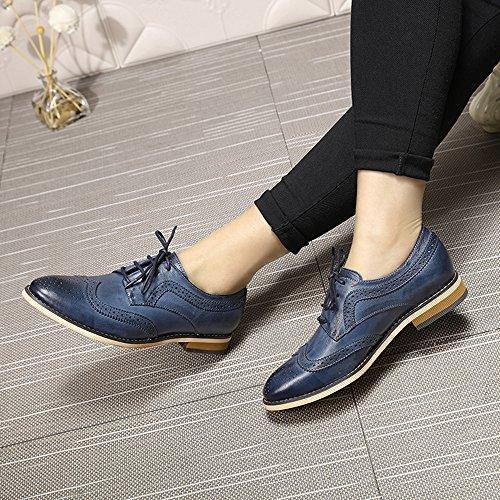 Mona Flying Chaussures à Lacets Femme Bleu