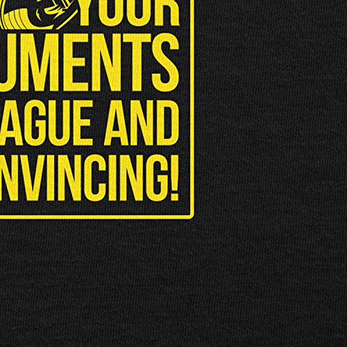TEXLAB - Your Arguments are vague and unconvincing - Herren T-Shirt Schwarz