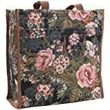 Signare Womens Fashion Tapestry Shopper Bag in Floral Peony Design