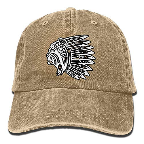 d887bdc4e688d WYICPLO 2019 Funny Hip Hop Native American Skull Vintage Unisex Washed Cap  Adjustable Dad Stetson Hat