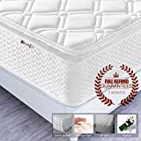 4FT6 Double Pocket Sprung Mattress with Memory Foam and Latex(Two-In-One) – Multi-Functional 9-Zone Orthopaedic Mattress – 10.6-Inch Deep – More Sizes Available: 2FT6 Small Single / 3FT Single / 4FT small Double / 5FT UK King Size / 6FT Super King Size