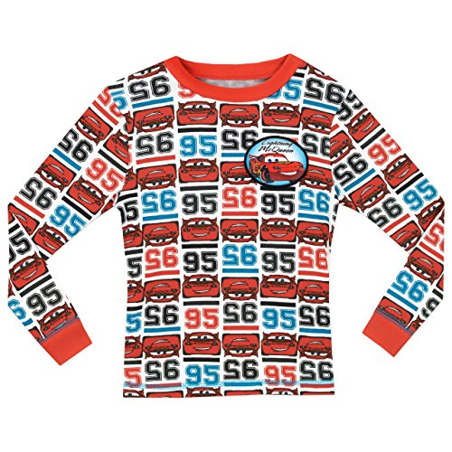 Image of Disney Cars Boys Cars Lightning McQueen Pyjamas - Snuggle Fit - Age 7 to 8 Years