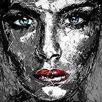 Leinwand Druck modern abstrakt Bild 870 Portrait face Frau Gesicht