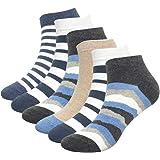 Intim Secret Pack 6 Aleatorios Calcetines Tobilleros para Hombre, Calcetines Cortos Elásticos, Diseños Originales y Colores M