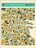 Poster 30 x 40 cm: Dublin Karte von Jazzberry Blue -