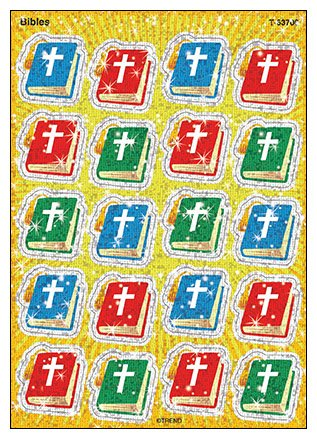 36 Christian Bible Sparkle Reward Stickers