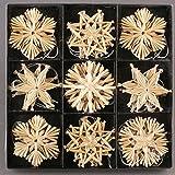 Annastore 27 Stück Stroh-Sterne zum Hängen 6 cm - Strohsterne Baumschmuck Weihnachten Weihnachtsdekoration
