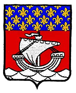 Patch ecusson brodé paris ile de france blason armoirie drapeau region