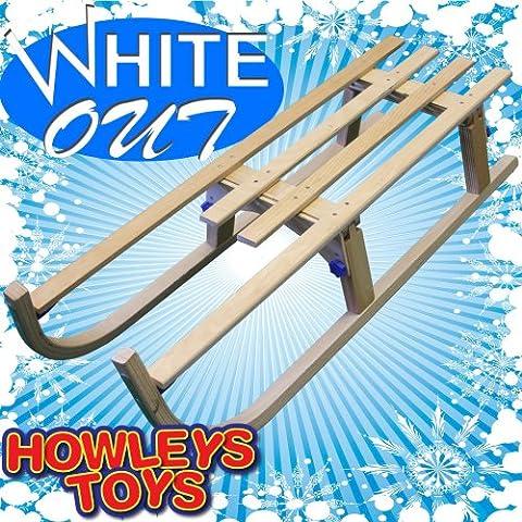 White Out - Slitta di legno 110cm