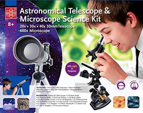 Teleskop und Mikroskop Set für den Einstieg in Kosmus und Mikrokosmos