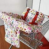 Baby and Kids Supermarket - Cuscino per carrello della spesa, portatile, pieghevole, 2-1
