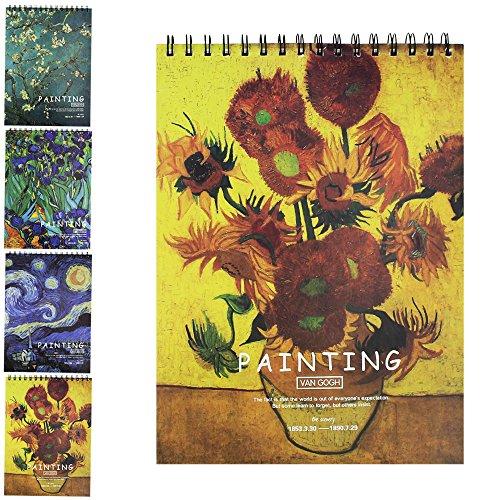 Sketch Book, Skizzenblock, Spiralbindung Sketchbook, skizzieren Book, Doodles, 70IB/100g, 21x...