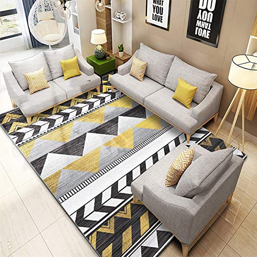 ZGYZ Alfombras de Estilo nórdico para la Salon, Alfombra Simple Color Gris Amarillo Gran tamaño Casa...