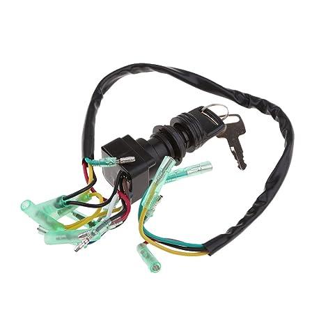 Gazechimp Interruptor con Llave de Encendido para Control Remoto de Motor Fueraborda de Motocicleta Yamaha