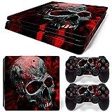 Sony PS4 Playstation 4 Slim Skin Design Foils Aufkleber Schutzfolie Set - Vampire Skull Motiv