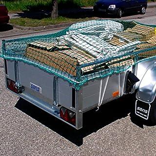 Anhängernetz 2,5 x 4 m DEKRA geprüft Maschenweite 45 mm grün