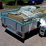 Donet Anhängernetz Transportnetz 2 x 3,5 m inkl. umlaufender Gummileine Mw. 45 mm grün