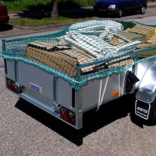 Anhängernetz 3,5 x 3,5 m DEKRA geprüft Maschenweite 45 mm grün