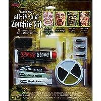 Wicked Wicked Family Horror Zombie Fancy Dress Halloween Make Up Kits Face Paint 3 Types (Zombie Family Make up)