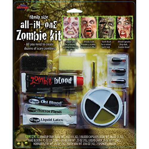 Familie Horror Zombie Makeup Kit (Latex Halloween-make-up)