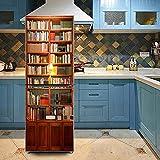 HHYS Haushalt Kühlschrank Gefrierschrank Wasserdicht DIY Aufkleber Selbstklebend Tapete Jahrgang Bücherregal Muster H143,60X150cm(23.6''X59'')