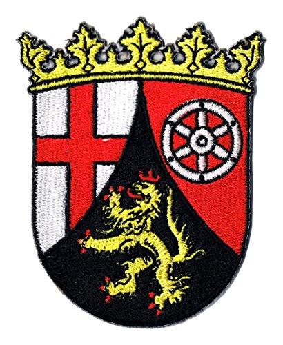 Aufnäher Bügelbild Iron on Patches Applikation Landeswappen Rheinland Pfalz