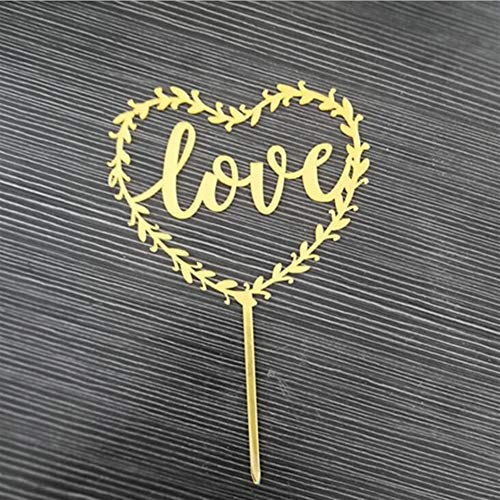 Party Decorations Favors Creative Acrylic Cake Card Cake Plug-in Party Cake Decoration(LOVE)