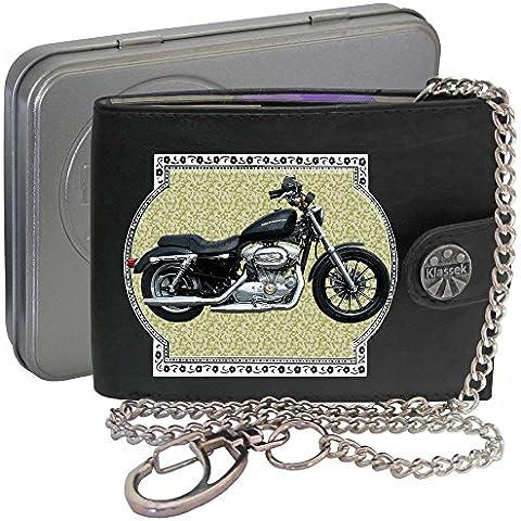 HARLEY DAVIDSON SPORTSTER Klassek Uomo Portafoglio con catena motocicletta accessorio Moto