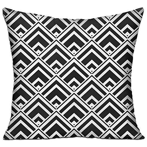 fdgjfghjdfj Vintage Geometric Black,Pillow Covers Decorative Pillowcase Cushion Covers with Zipper 18x18 Inches