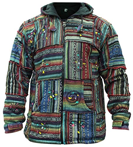 Chaqueta con capucha de algodón para hombre, de SHOPOHOLIC FASHION multicolor Medium