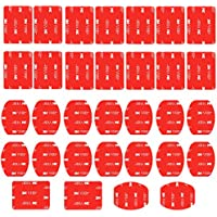 Neewer 32 Piezas Adhesivo Almohadilla Pegatina para Casco,16 Curvos y 16 Planas Pegatinas para GoPro Hero 6 5 4 3+ 3 2 SJ4000 5000 6000 DBPOWER AKASO VicTsing APEMAN Rollei Lightdow y Sony Sports DV